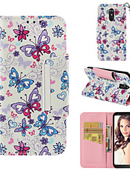 cheap -Case For LG LG Stylo 4 Wallet / Card Holder / Flip Full Body Cases Butterfly Hard PU Leather
