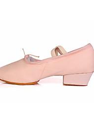cheap -Women's Ballet Shoes Ballroom Shoes Line Dance Heel Sneaker Lace-up Low Heel Black Red Pink Gore Elastic Band Slip-on / Practice / EU39