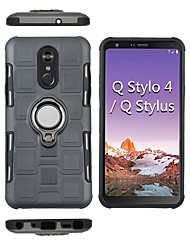 cheap -Phone Case For LG Back Cover LG Q Stylus LG Stylo 4 Shockproof Ring Holder Armor Hard PC