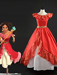 cheap -Princess Dress All Movie Cosplay Red Dress Christmas Halloween New Year Silk Satin