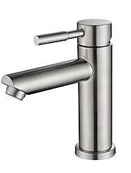 cheap -Bathroom Sink Faucet - New Design Nickel Brushed Free Standing Single Handle One HoleBath Taps