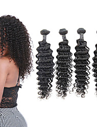 cheap -4 Bundles Brazilian Hair Deep Wave Remy Human Hair Human Hair Extensions 8-24 inch Human Hair Weaves Fashionable Design Soft Best Quality Human Hair Extensions