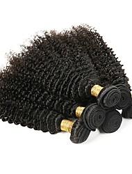 cheap -6 Bundles Kinky Curly Human Hair Unprocessed Human Hair Headpiece Natural Color Hair Weaves / Hair Bulk Hair Care 8-28 inch Natural Color Human Hair Weaves Silky Easy dressing Fashion Human Hair