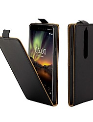 cheap -Case For Nokia 8 / Nokia 7 / Nokia 7.1 Leather with Card Slot Flip up and down FOR Nokia 2 / Nokia 6.1