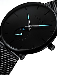 cheap -Men's Dress Watch Quartz Stainless Steel Black Water Resistant / Waterproof Noctilucent Analog Classic Casual Fashion Simple watch - Black / Red Black / Blue Black / Rose Gold