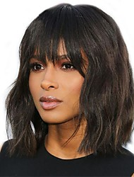 cheap -Remy Human Hair 360 Frontal Wig Bob style Brazilian Hair Natural Wave Natural Wig 130% Density Women Natural Comfortable 100% Virgin 100% Hand Tied Women's Short Human Hair Lace Wig Luckysnow