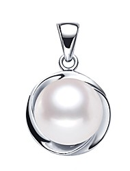 cheap -Freshwater Pearl Pendant Pearl S925 Sterling Silver For Women's Round Simple Style Sweet Fashion Daily Date High Quality Modern Style Joy 1pc