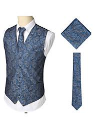 cheap -Men's Work / Birthday Business / Vintage Spring & Summer / Fall & Winter Regular Vest, Print V Neck Sleeveless Cotton / Spandex Print Navy Blue / Business Casual