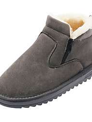cheap -Women's Boots Flat Heel Round Toe PU Booties / Ankle Boots Casual Winter Black / Brown / Gray