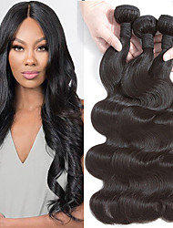 cheap -4 Bundles Body Wave Human Hair Unprocessed Human Hair Headpiece Natural Color Hair Weaves / Hair Bulk Hair Care 10-28 inch Natural Color Human Hair Weaves Newborn Silky Best Quality Human Hair / 8A