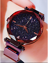 cheap -Women's Quartz Watches Antique Casual Black Blue Purple Stainless Steel Chinese Quartz Black Rose Gold Purple Water Resistant / Waterproof Cute New Design 30 m 1 pc Analog