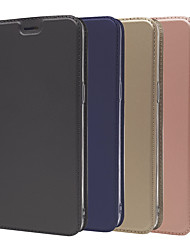 cheap -Case For OnePlus OnePlus 6 / One Plus 6T / One Plus 5 Card Holder / with Stand / Flip Full Body Cases Solid Colored Hard PU Leather