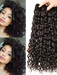 cheap -3 Bundles Indian Hair Water Wave Human Hair Unprocessed Human Hair Wig Accessories Headpiece Natural Color Hair Weaves / Hair Bulk 8-28 inch Natural Color Human Hair Weaves Dancing Thick Silk Base