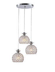cheap -3-Light 35 cm Crystal Creative Chandelier Metal Sputnik Painted Finishes Nature Inspired Modern 110-120V 220-240V