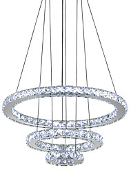 cheap -40 cm Crystal / LED Chandelier Metal Circle Electroplated Modern Contemporary 110-120V / 220-240V