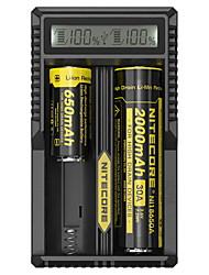 cheap -Nitecore UM20 Battery Charger 5 V for Li-ion Smart USB LCD Circuit Detection Circuit Protection 18650,18490,18350,17670,17500,16340(RCR123), 14500,10440 Camping / Hiking / Fishing