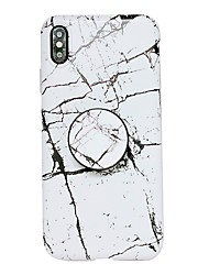 cheap -Case For Apple iPhone XS / iPhone XR / iPhone XS Max with Stand / IMD Back Cover Marble Soft TPU