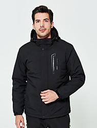 cheap -DZRZVD® Men's Waterproof Hiking Jacket Winter Outdoor Thermal / Warm Waterproof Windproof Rain Waterproof Jacket Waterproof Rain Proof Back Country Mountaineering Outdoor Dark Grey / Black / Dark Navy