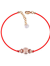 cheap -Bracelet Good Luck Bracelet Crystal Metal Alloy For Women's Round Simple Style Fashion Good Luck Daily High Quality Rope red rope chain Ball Wish Bracelet 1pc / Gold Plated