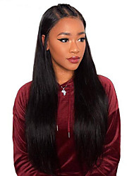 cheap -Virgin Human Hair Glueless Lace Front Lace Front Wig style Brazilian Hair Straight Wig 130% 150% 180% Density with Baby Hair African American Wig Women's Short Medium Length Long Human Hair Lace Wig