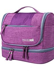 cheap -Unisex Waterproof PU Leather Cosmetic Bag Zipper Daily Black Purple Red Sky Blue