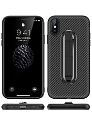 cheap -Case For Apple iPhone XS / iPhone XR / iPhone XS Max with Stand Back Cover Solid Colored Soft Carbon Fiber