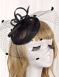 cheap -Elizabeth The Marvelous Mrs. Maisel Women's Adults' Ladies Retro Vintage Masquerade Veil Feather Net Hat Headbands Hair Clip Black Gray Cyan Bowknot Headwear Lolita Accessories / Fascinator Hat