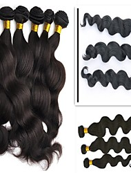 cheap -3 Bundles Peruvian Hair Body Wave Human Hair Unprocessed Human Hair 300 g Headpiece Natural Color Hair Weaves / Hair Bulk Hair Care 8-28 inch Natural Color Human Hair Weaves Soft Party Easy dressing