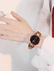 cheap -Women's Dress Watch Quartz Leather Black / Red / Brown Casual Watch Analog Ladies Fashion Minimalist - Brown Red Pink