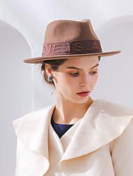 cheap -Elizabeth The Marvelous Mrs. Maisel Women's Adults' Ladies Retro Vintage Felt Hats Hat Black Gray Brown Embossed Vintage Wool Headwear Lolita Accessories