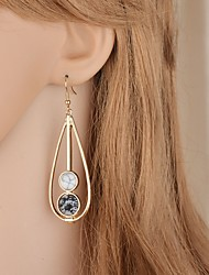 cheap -Women's Drop Earrings Hollow Out Long Pear Vintage Elegant Earrings Jewelry White / Green For Wedding Party 1 Pair