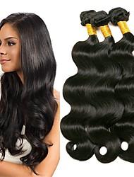 cheap -4 Bundles Malaysian Hair Body Wave Human Hair Wig Accessories Natural Color Hair Weaves / Hair Bulk Hair Care 8-28 inch Natural Color Human Hair Weaves Soft Silky Smooth Human Hair Extensions