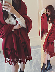 cheap -Sleeveless Imitation Cashmere Wedding / Party / Evening Women's Scarves With Tassel / Solid Shawls / Scarves