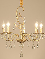 cheap -JLYLITE 5-Light 55 cm Candle Style Chandelier Metal Candle-style Electroplated Traditional / Classic / Country 110-120V / 220-240V