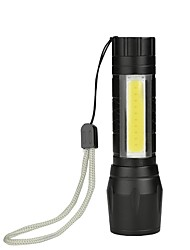 cheap -BRELONG Portable Mini COB Light Flashlight Built-In Battery