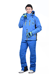 cheap -MARSNOW® Men's Ski Jacket with Pants Camping / Hiking Winter Sports Waterproof Windproof Warm 100% Cotton Chenille Clothing Suit Ski Wear