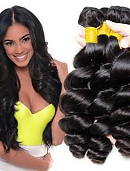 cheap -3 Bundles Peruvian Hair Loose Wave Human Hair Unprocessed Human Hair 300 g Headpiece Natural Color Hair Weaves / Hair Bulk Hair Care 8-28 inch Natural Color Human Hair Weaves Extender Soft Silky