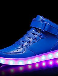 cheap -Boys USB Charging  LED / LED Shoes PU Sneakers Kids / Teenager Black / White / Red Fall / Rubber