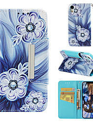 cheap -Case For Apple iPhone XR Wallet / Card Holder / Flip Full Body Cases Flower Hard PU Leather