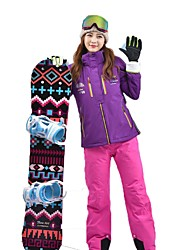 cheap -MARSNOW® Women's Ski Jacket with Pants Camping / Hiking Winter Sports Waterproof Warm Breathability Cotton Clothing Suit Ski Wear
