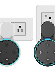 cheap -Echo Dot Wall Mount Case Holder Stand for Amazon Alexa Dot 2nd Generation Space-Saving Accessories for Home Speaker Without Mess Wires or Screws - Short Charging Cable Included