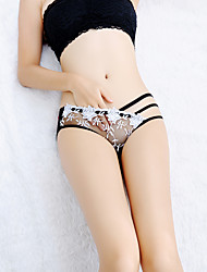 cheap -Women's Lace / Flower Brief - Normal Low Waist White Black Blue One-Size