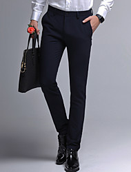 cheap -Men's Daily Work Chinos Pants - Solid Colored Black Blue Gray 29 30 31