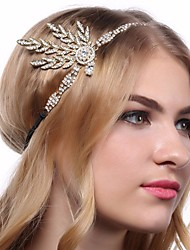 cheap -The Great Gatsby Charleston 1920s The Great Gatsby Roaring 20s Headpiece Flapper Headband Women's Tassel Costume Head Jewelry Black / Golden / White Vintage Cosplay / Headwear / Headwear