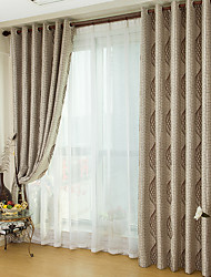 cheap -Two Panel European Classical Style Jacquard Blackout Curtains Living Room Bedroom Children's Room Home Curtains