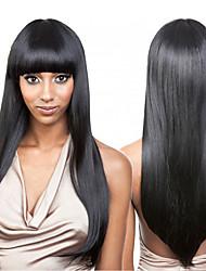 Недорогие -человеческие волосы Remy Лента спереди Парик стиль Бразильские волосы Прямой Парик 130% Плотность волос 100% девственница Жен. Длинные Парики из натуральных волос на кружевной основе beikashang