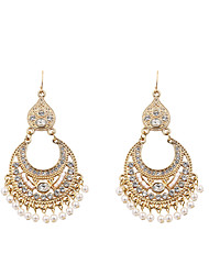 cheap -Women's Drop Earrings Earrings Dangle Earrings Retro Precious Ethnic Style Dangling Vintage Pearl Earrings Jewelry Bronze / Gold For Party Engagement Gift Street Work 1 Pair
