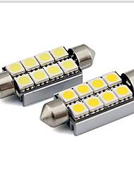 Недорогие -2pcs 36mm Автомобиль Лампы 1 W SMD 5050 80 lm 6 Светодиодная лампа Внутреннее освещение Назначение Универсальный Универсальный Универсальный