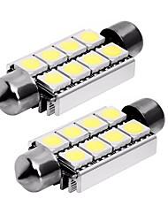 Недорогие -2pcs 42mm Автомобиль Лампы 1 W SMD 5050 80 lm 8 Светодиодная лампа Задний свет / Внутреннее освещение Назначение Универсальный Универсальный Универсальный