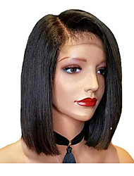 cheap -Short Bob Straight Wig Lace Front Human Hair Wigs Brazilian Remy Human Hair Wig with Baby Hair For Women